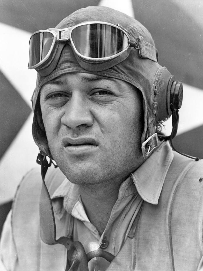 WWII photo of Major Greg Boyington