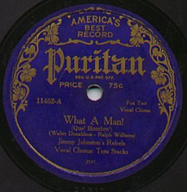English: Puritan Records label, 1920s.