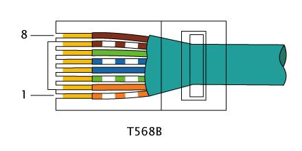 couleur ethernet rj45 camera cable surveillance