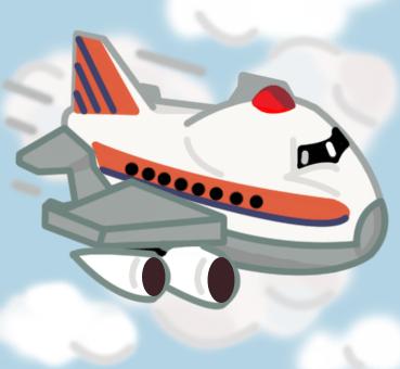 Cartoon jumbo jet