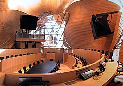 High tech conference hall