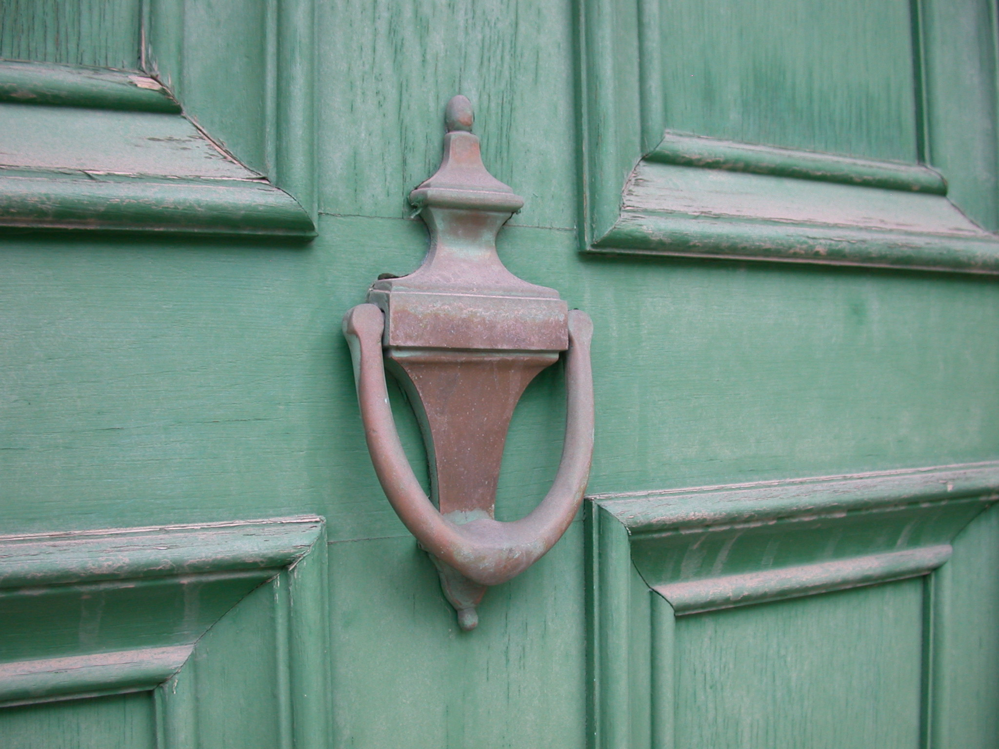 English: Simple but elegant old brass door kno...