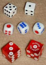 American, Chinese, and casino dice