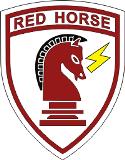 English: RED HORSE Emblem