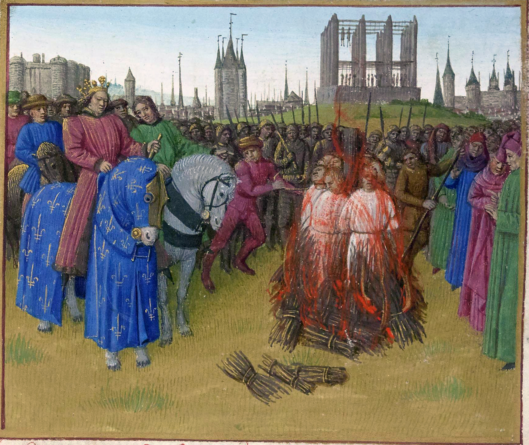 The burning of the Amalrician heretics. Circa 1210.