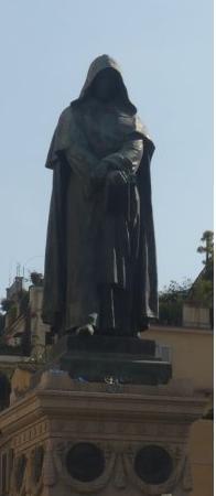English: Statue de Giordano Bruno sur le Campo...