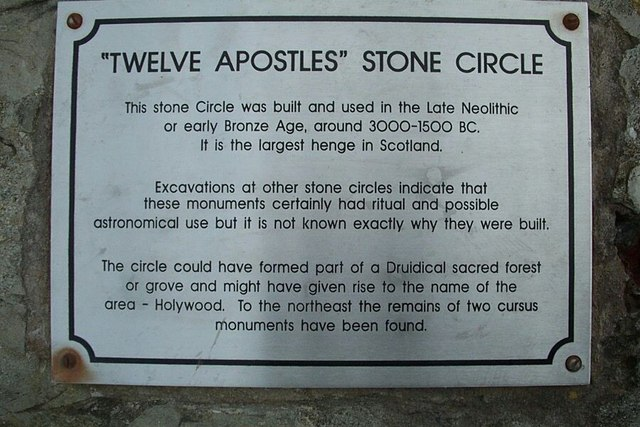 Information sign for the Twelve Apostles Stone Circle