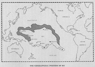 Carte de Mu selon James Churchward.