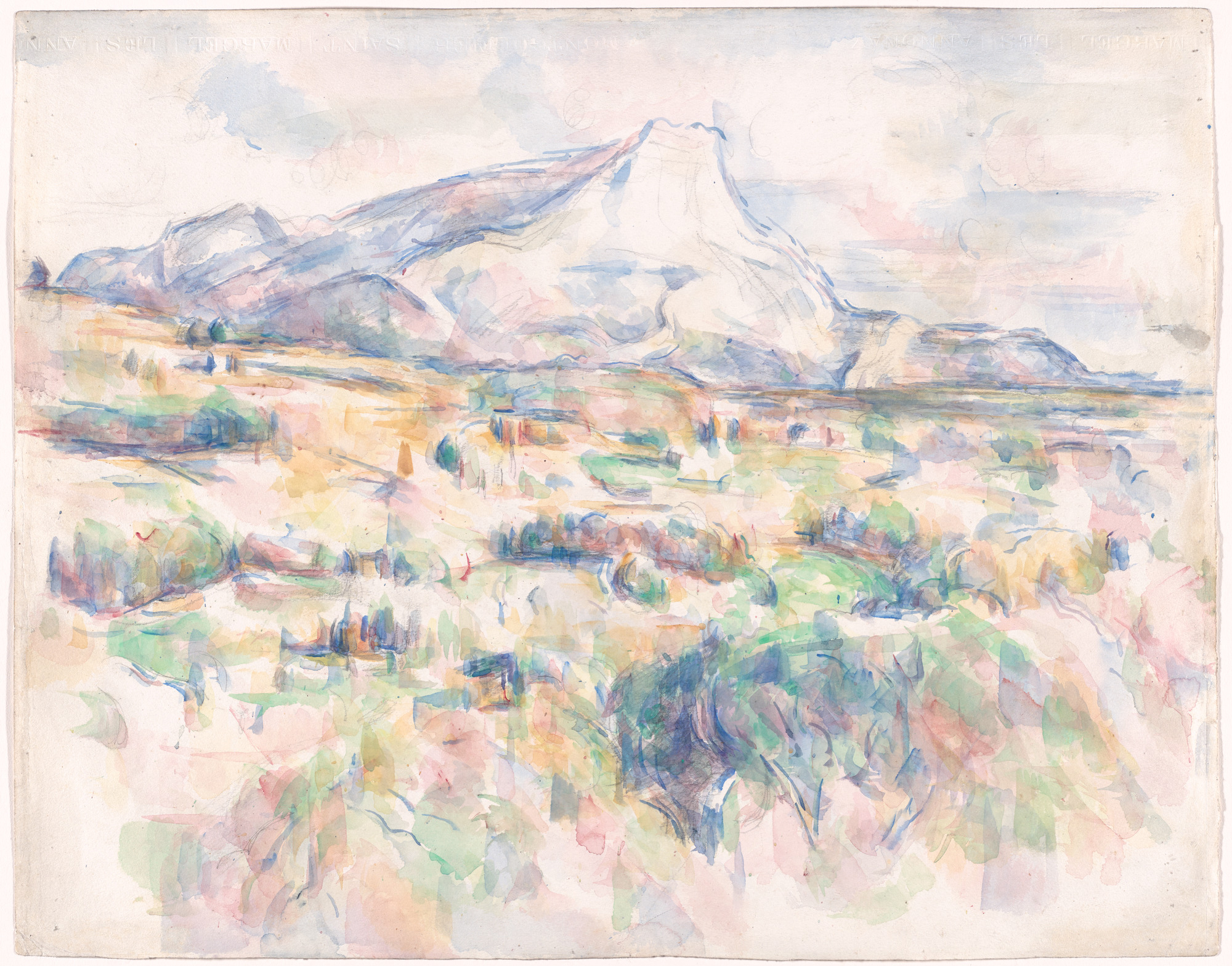 file la montagne sainte victoire vue des lauves par paul cezanne rw595 moma jpg wikimedia commons