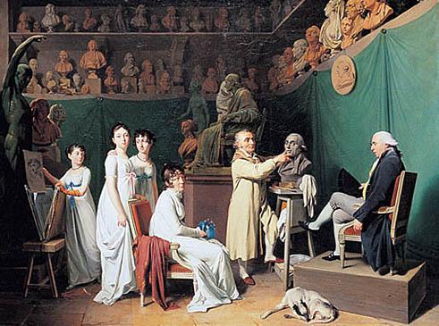 L'atelier de Houdon. The painting shows the st...