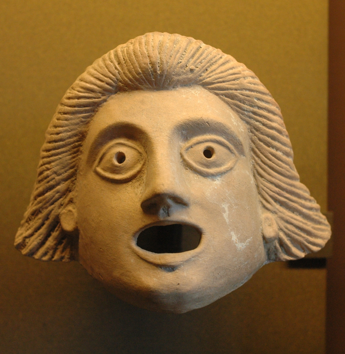 Theatre mask, 1st century BC.