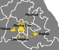 Spread of Greater Mexico City into Mexico and ...
