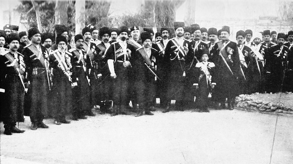 Persian Cossak calvary group photo from 1909.