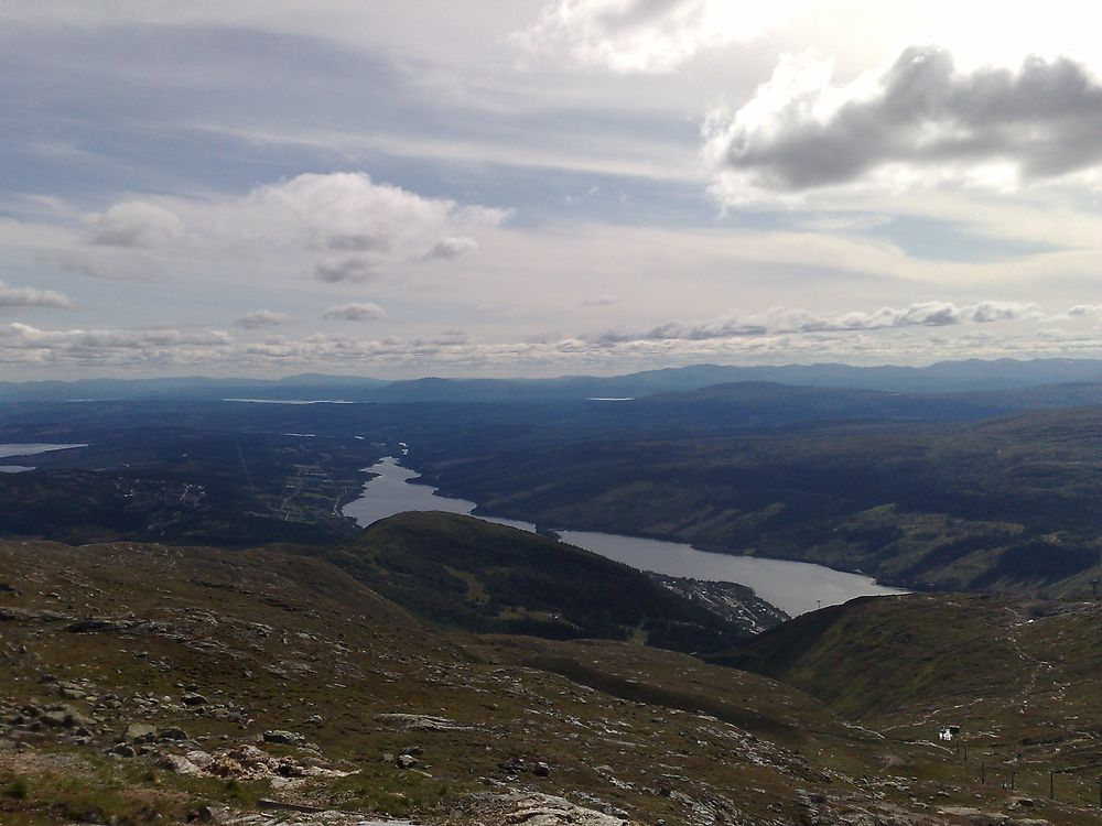 View from Åre skutan, where the meeting is being held.