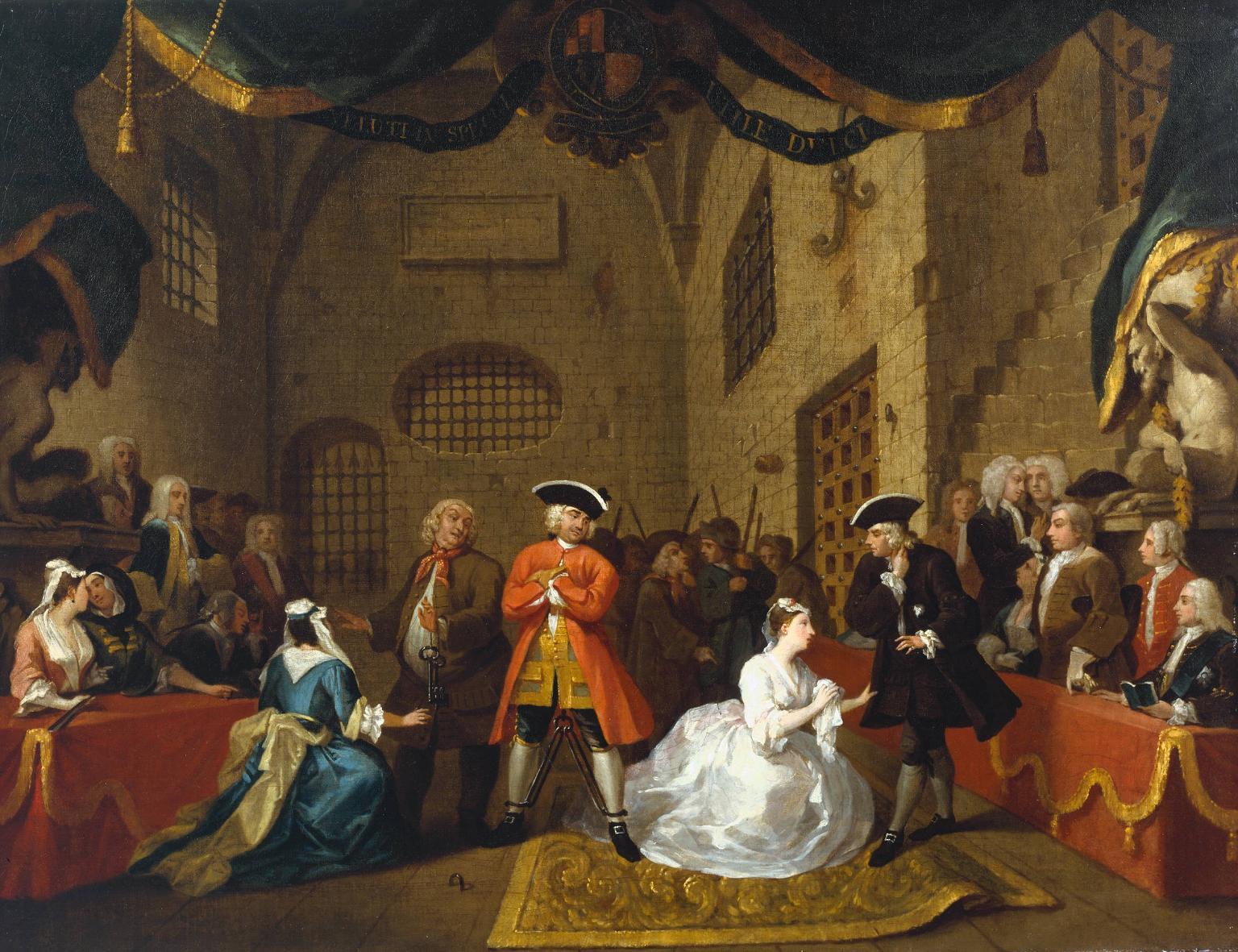 John Gay's Beggar's opera (Hogarth, 1728)