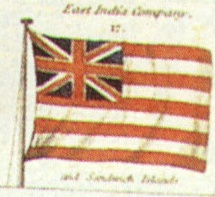English: British East India Company flag. Imag...
