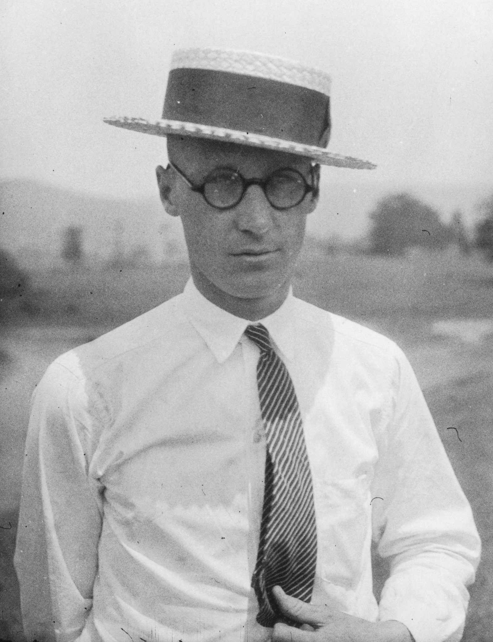 John T. Scopes, circa 1925, unpublished photograph donated to the Smithsonian Institute
