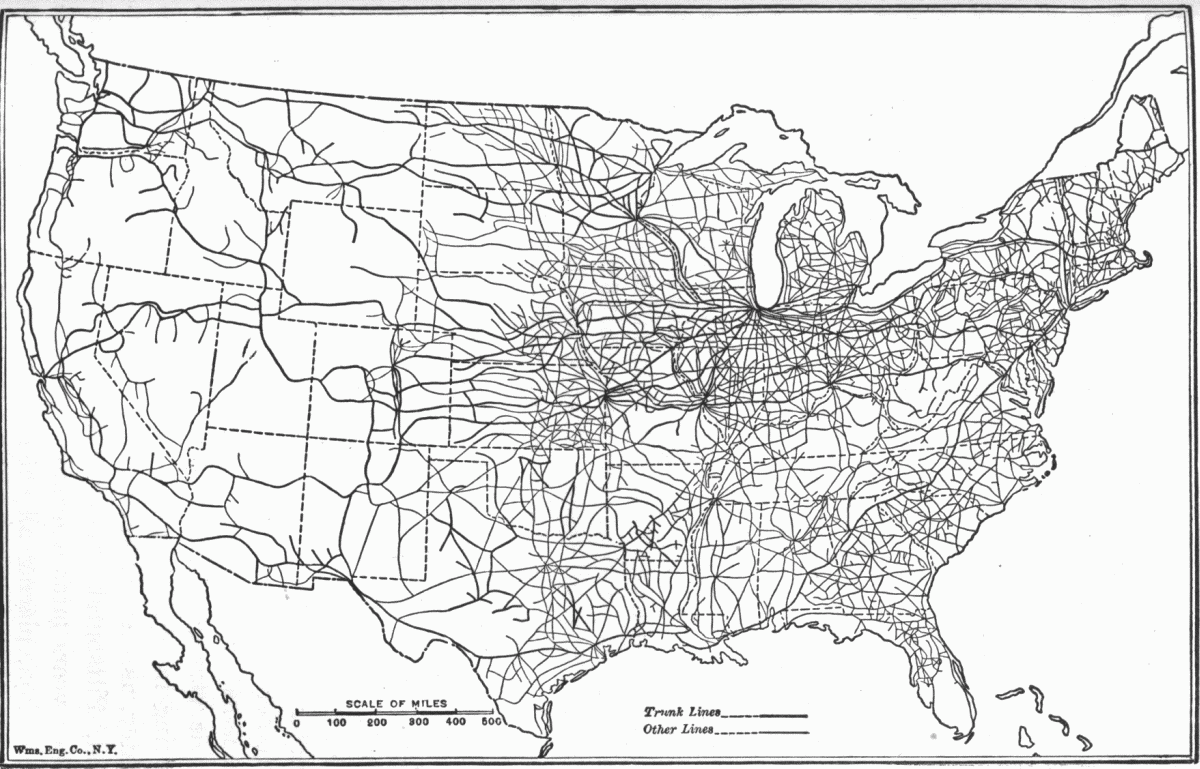 Old Us Map Time