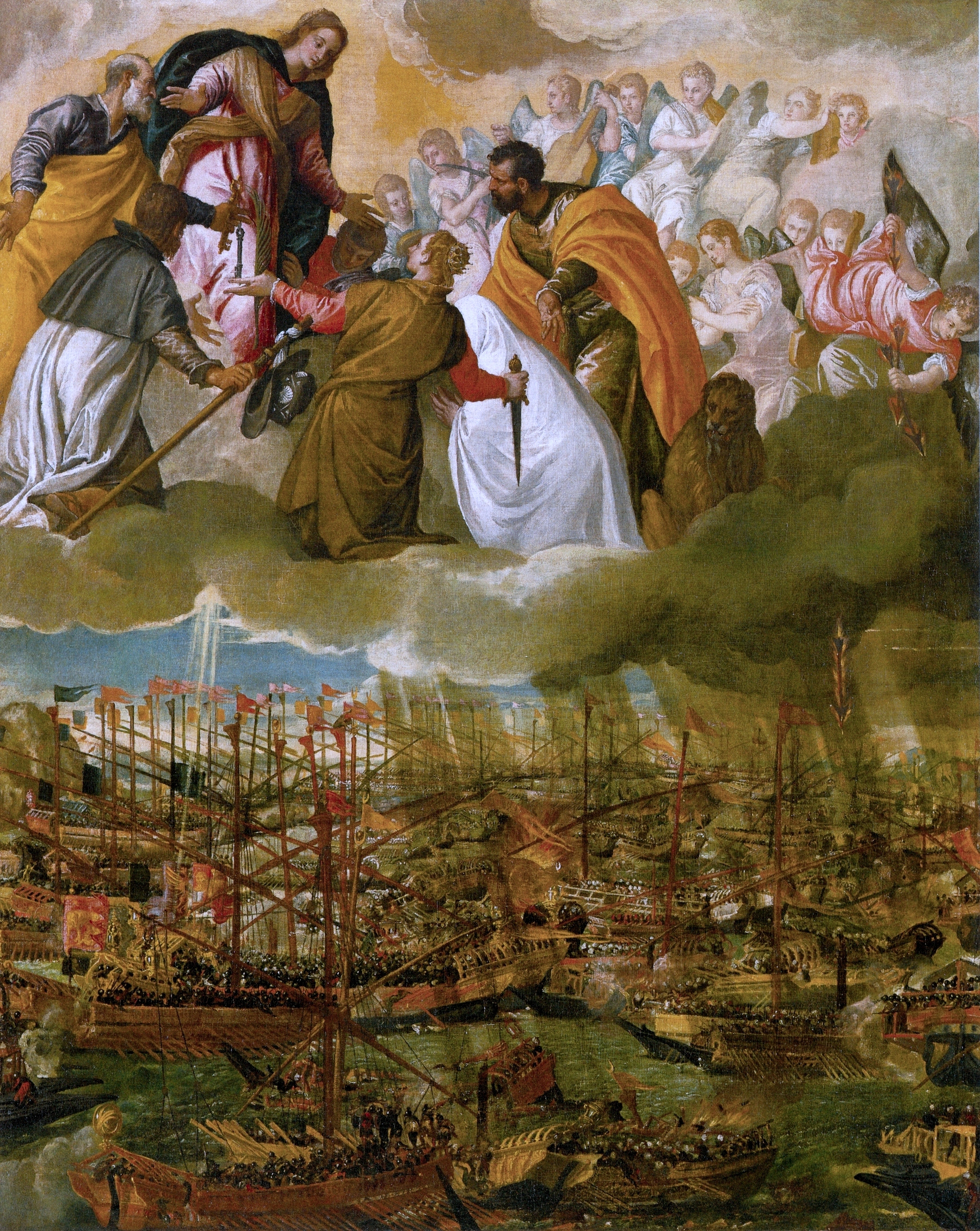 The Battle of Lepanto by Paolo Veronese, taken from Wikipedias article about the Battle of Lepanto.