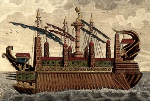 The Syracusia, as imagined in 1798 - Curious Minds Podcast