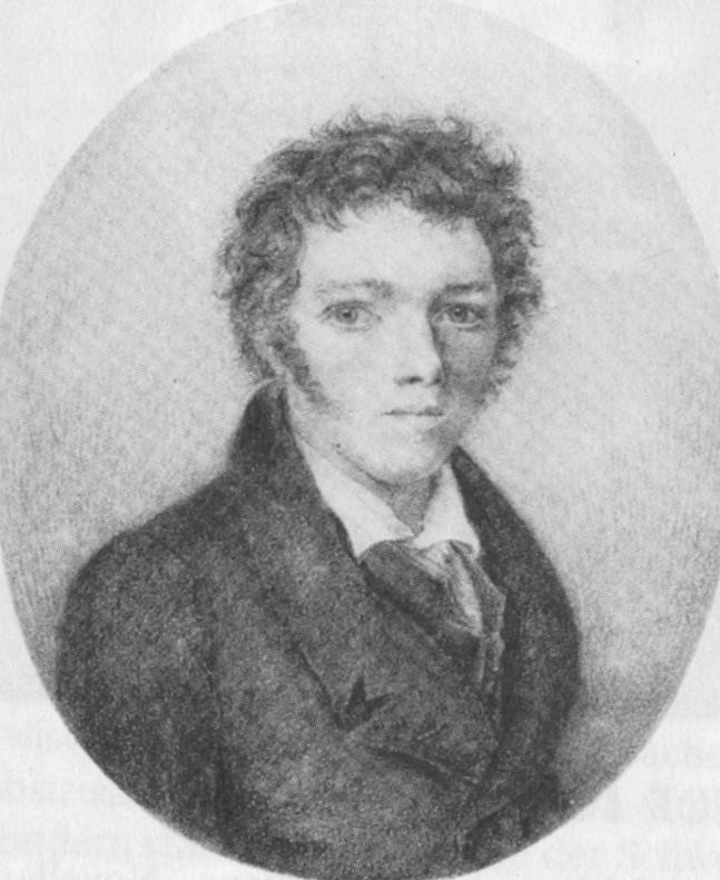 Wilhelm Hauff, Kreidezeichnung von J. Behringer, Wikimedia Commons