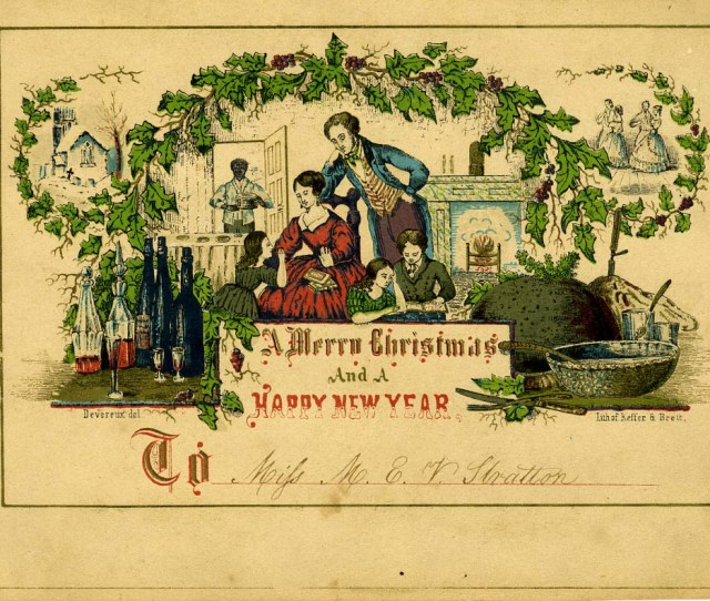 A Th Century American Christmas Card