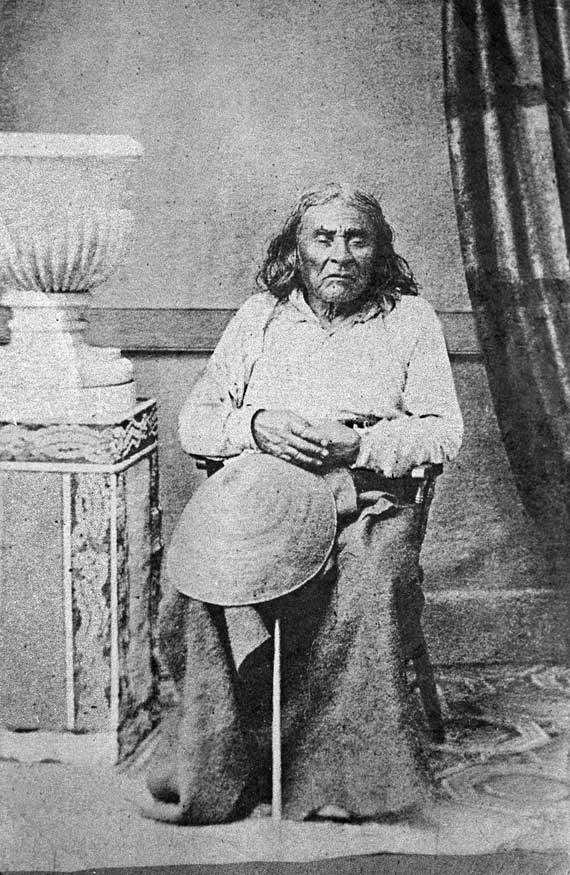 The only known photograph of Chief Seattle, ta...