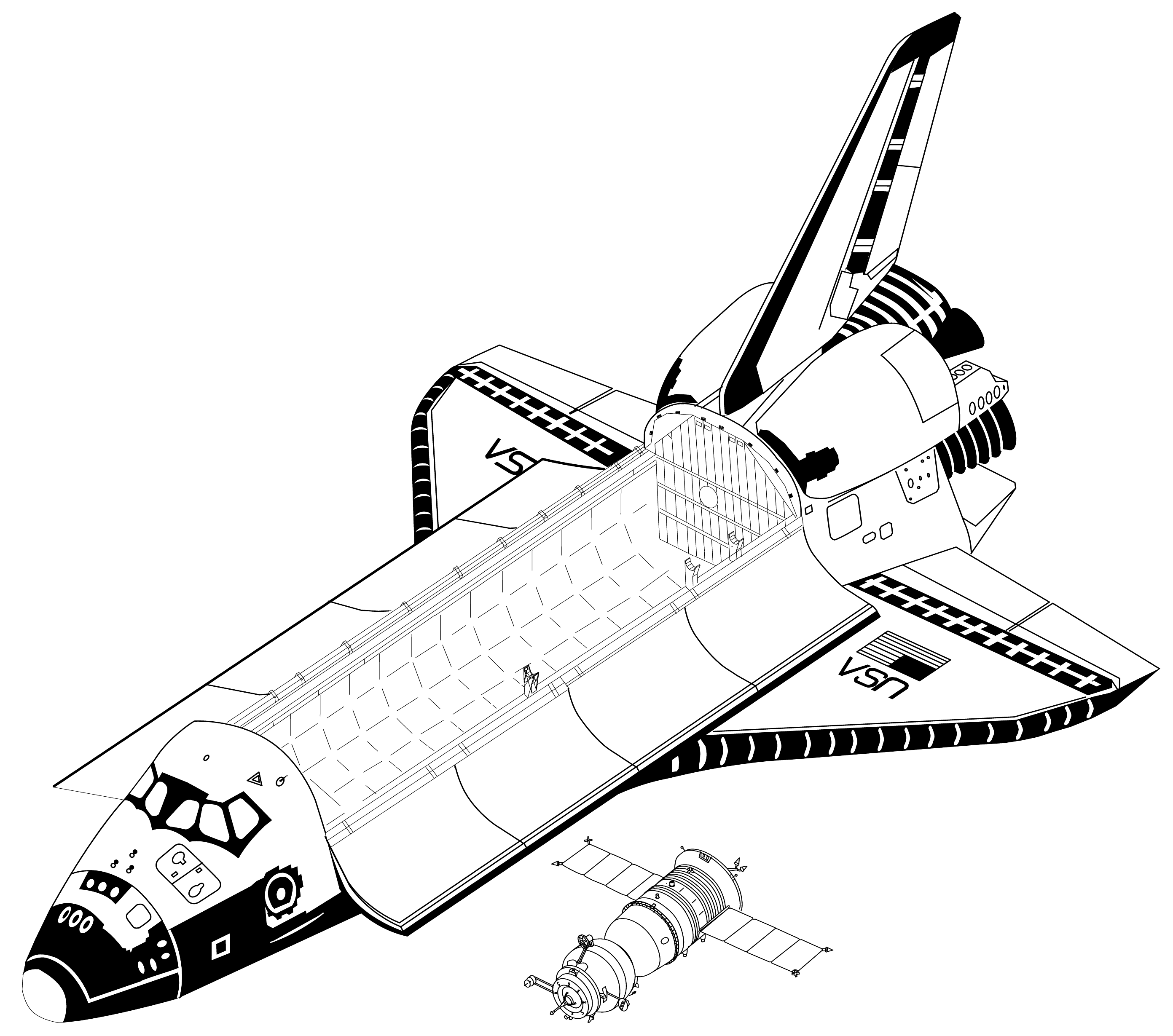 Challenger Space Shuttle Schematics