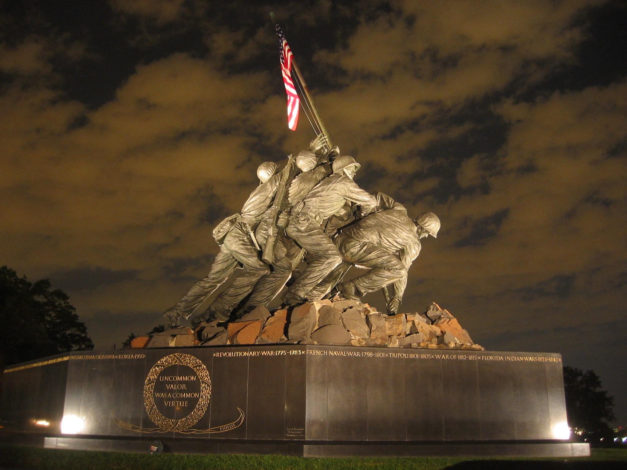file usmc war memorial night jpg wikipedia