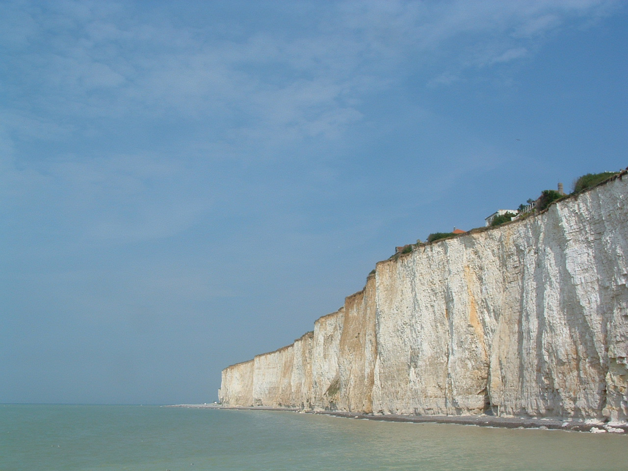 The white, white cliffs of Dover.