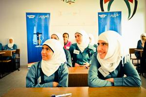 English: Students in classroom