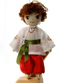 "English: Handmade textile doll ""Mykolai&q..."