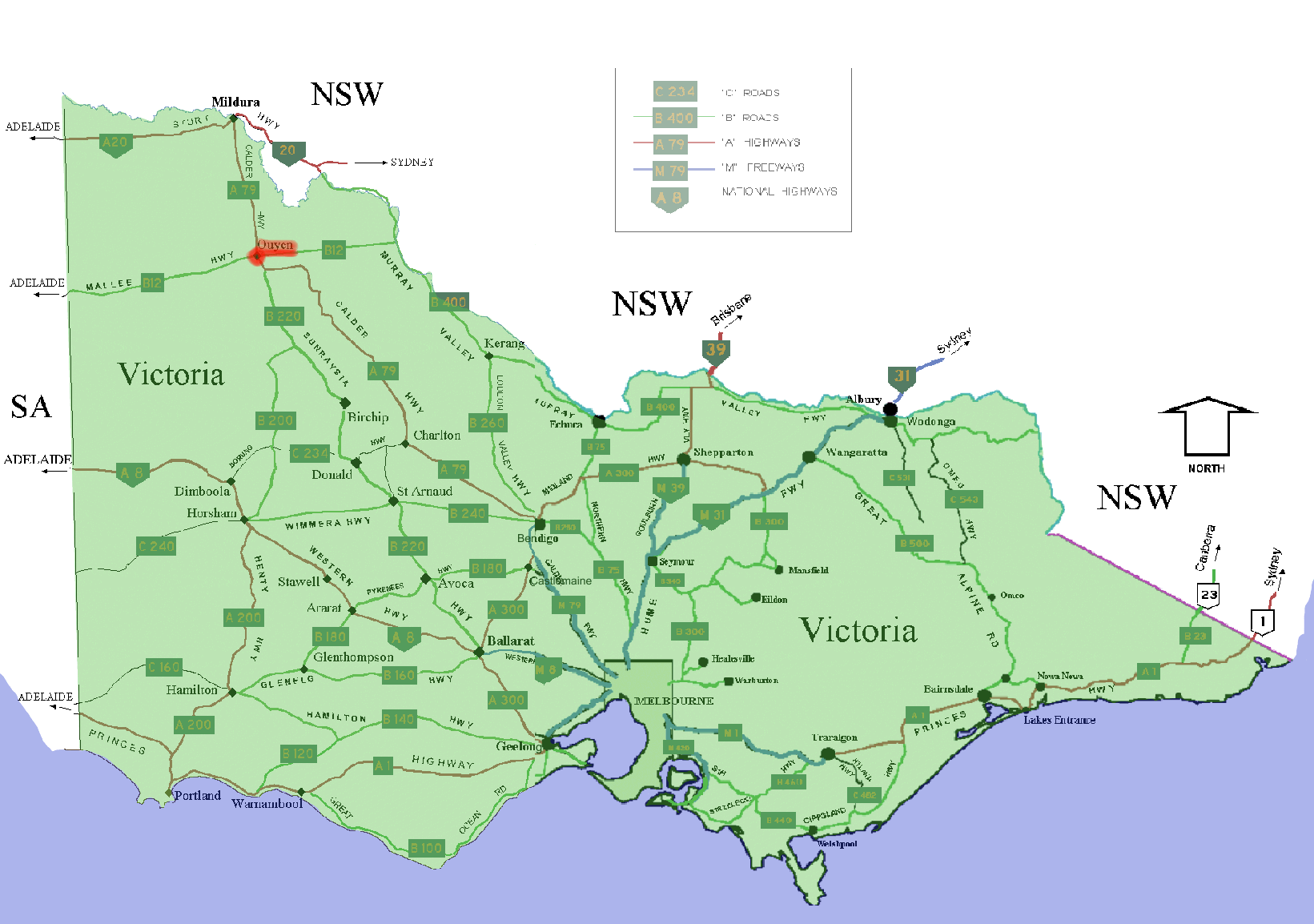 victoria australia map
