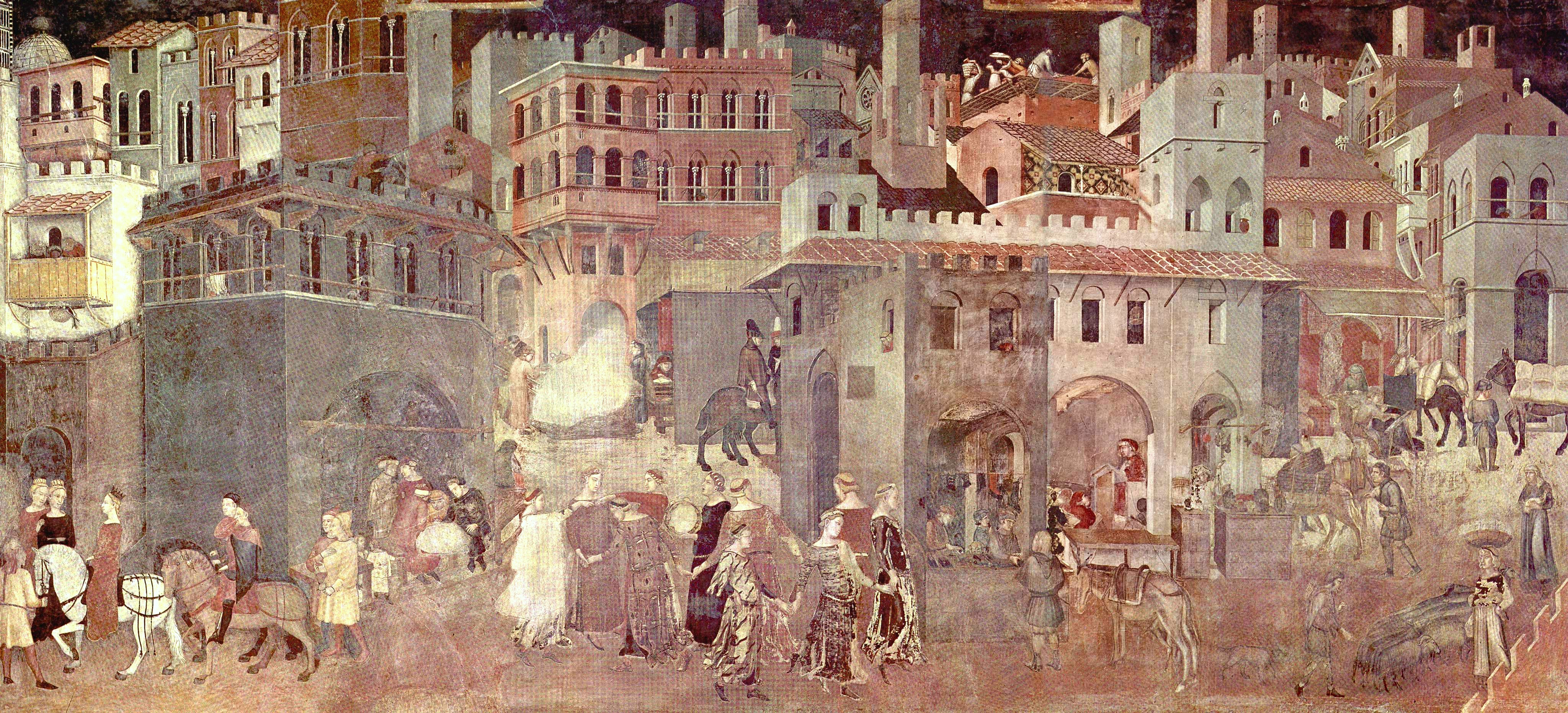 Ambrogio Lorenzetti, The Allegory of Good Government, Palazzo Publico, Siena.