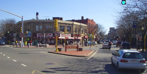 Davis Square in Somerville, Massachusetts