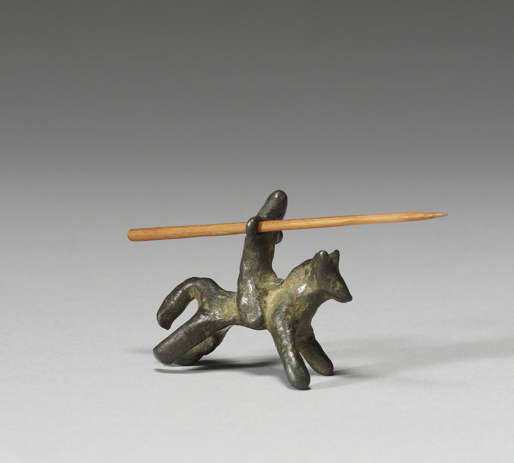 13th century bronze toy knight
