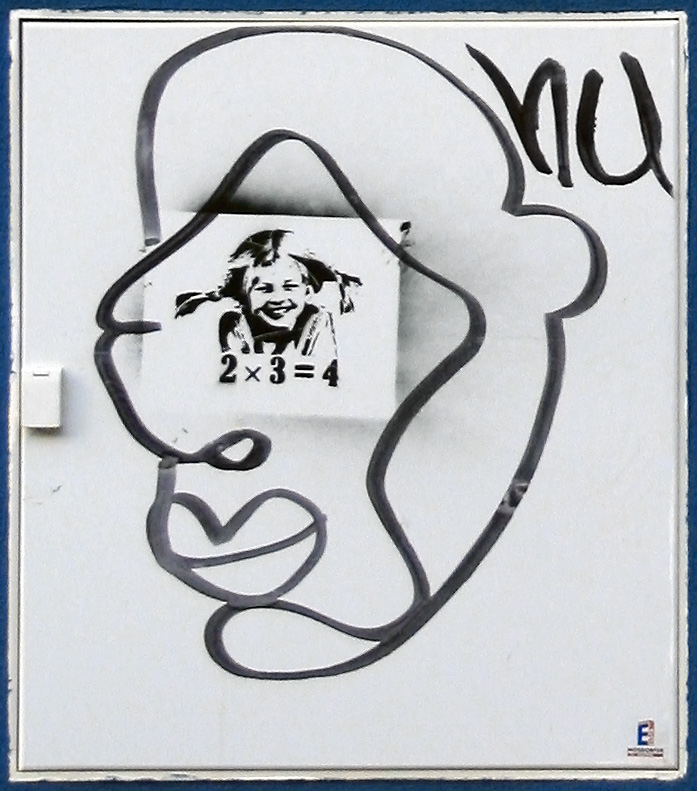 Graffiti stencil of Pippi Longstocking Deutsch...