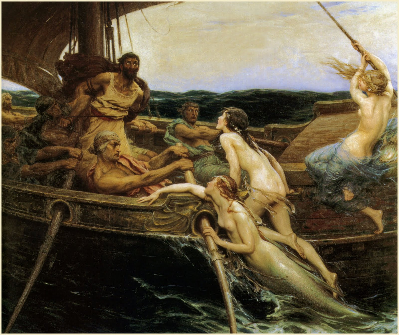 imagen de Herbert James Draper. Ulysses and the Sirens (1909)