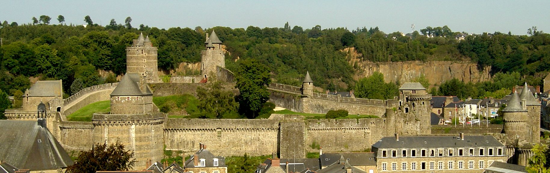 General view of the castle of Fougeres.