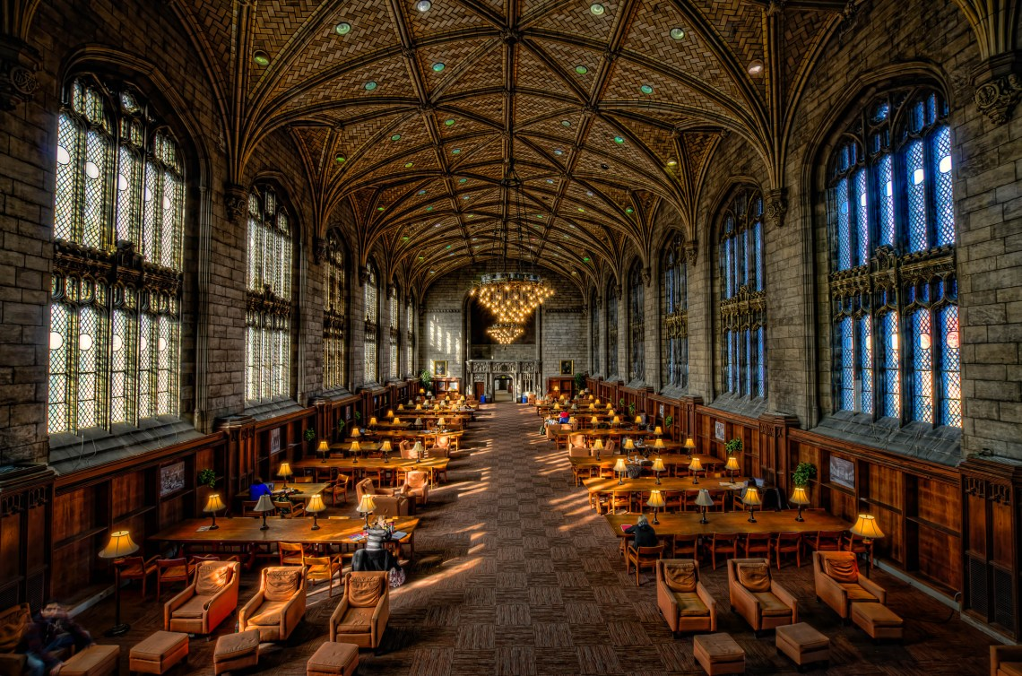 University of Chicago, Harper Library Gothic Iphone Wallpaper