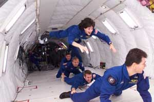 Weightlessness inside a Reduced gravity aircraft