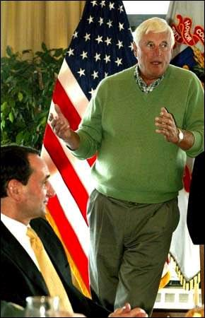 English: Bob Knight and Coach K at USMA