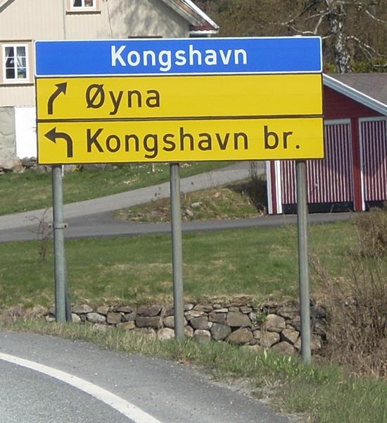 Norway uses the Trafikkalfabetet typeface.