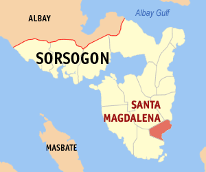 Map of Sorsogon showing the location of Santa ...