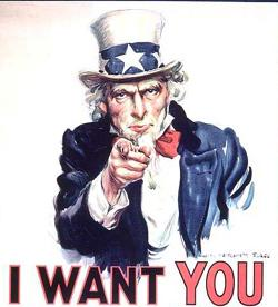 Uncle Sam recruiting poster. Painted by James ...