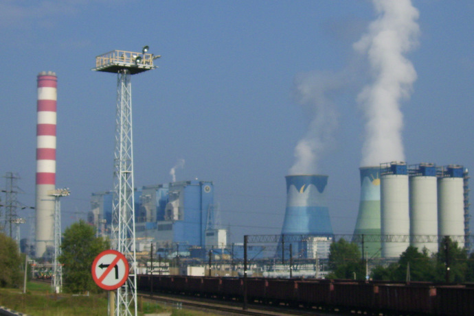 Polski: PGE Elektrownia Opole S.A. - widok z t...