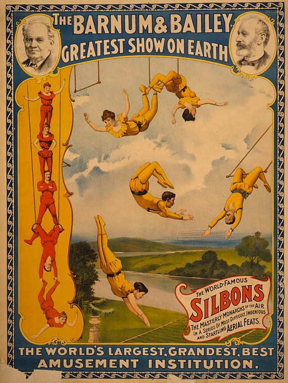 Barnum Bailey Circus Poster Sideshow Freaks
