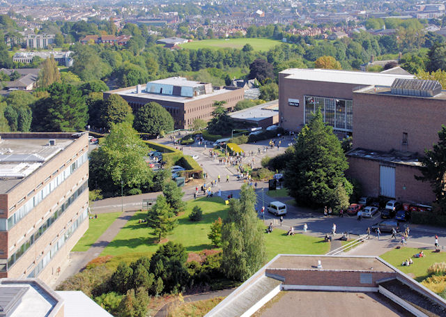 High angle shot of Streatham Campus