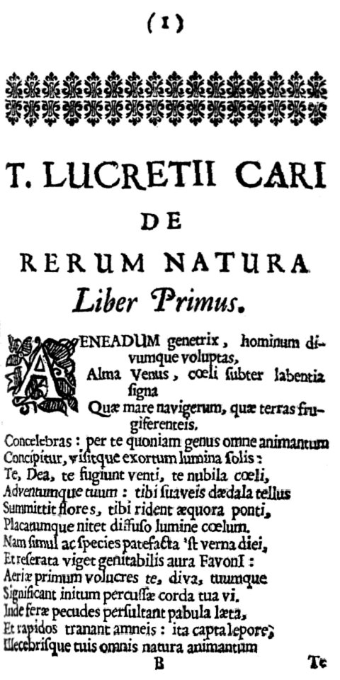 Lucretius De Rerum Natura 1675 page 1.jpg