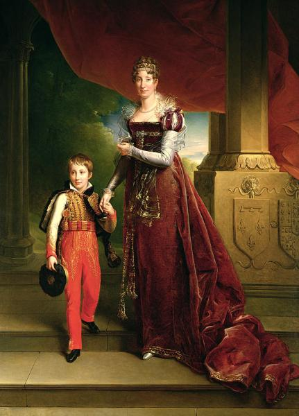 Maria Amalia, with her eldest son, c1818. source: Wikipedia